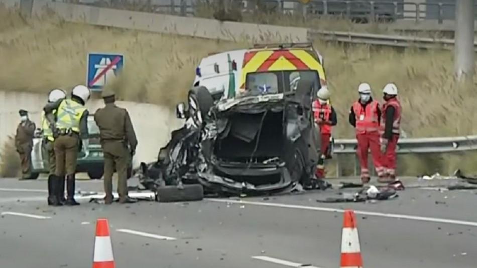 Accidente vehicular por exceso de velocidad dejó dos heridos en la autopista Costanera Norte