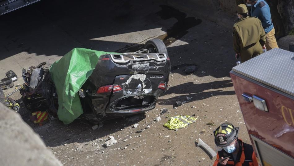 Video registra accidente en Viña: muere joven conductor tras caer a un paso bajo nivel