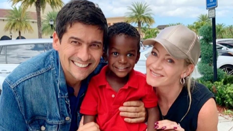 Rafael Araneda con Marcela Vacarezza y su hijo Benjamin
