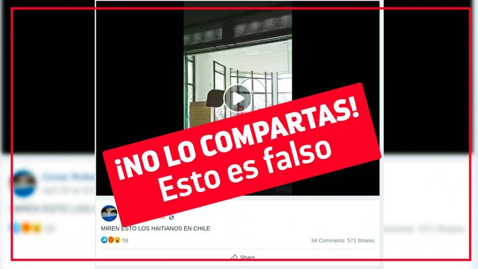 Es falso que haitianos hayan atacado una oficina pública en Chile