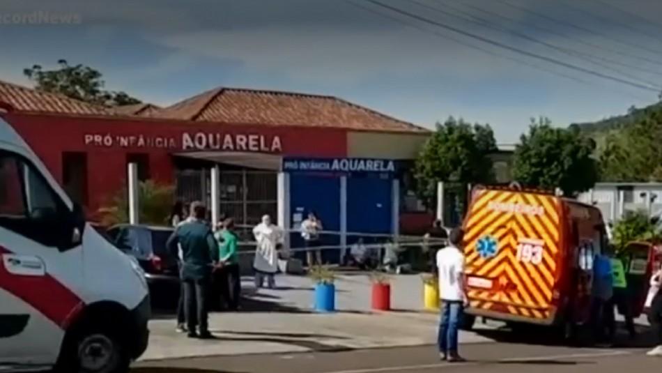 Violento ataque a guardería en Brasil.