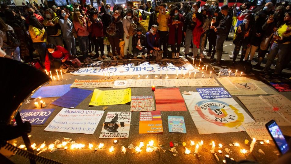 Colombianos se manifiestan en Providencia en apoyo a víctimas de protestas en su país