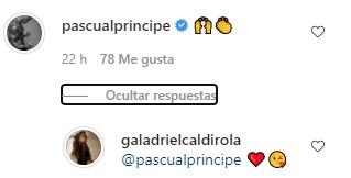 Comentario de Pascual respondido por Gala