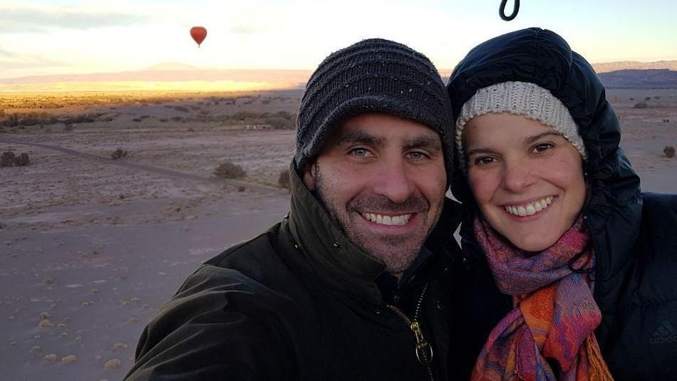 Cristián Arriagada y Javiera Suárez
