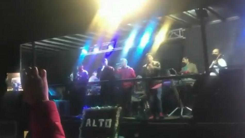 Velorio con más de 100 asistentes y música en vivo se realizó en Puente Alto