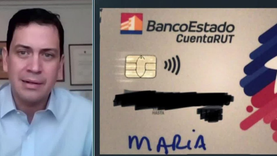 Vicepresidente de BancoEstado por tarjetas escritas con plumón: