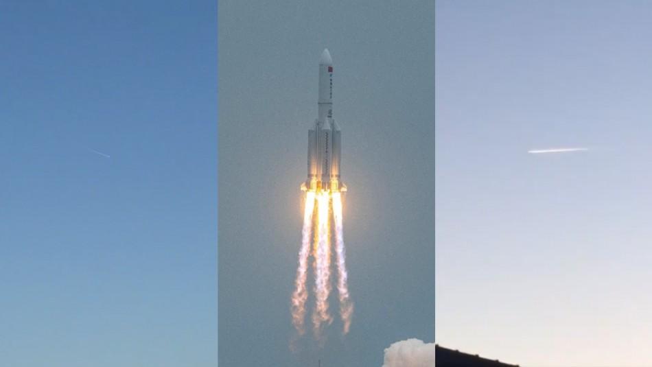 [VIDEOS] Revisa los registros que dejó la caída del cohete chino Long March 5B en la Tierra