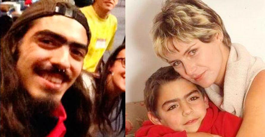 El hijo de Carolina Fadic junto a ella, ahora grande y cuando era un niño