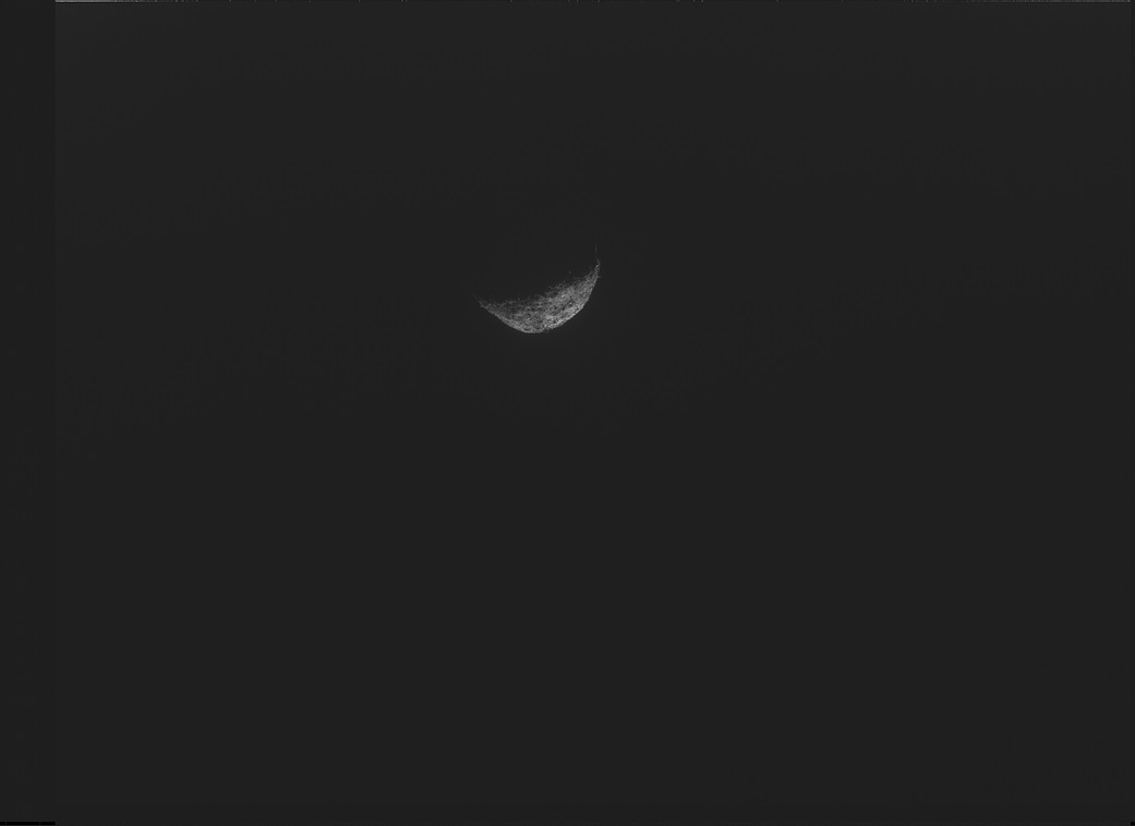Última imagen de Bennu tomada por el camino de OSIRIS-REx a la Tierra