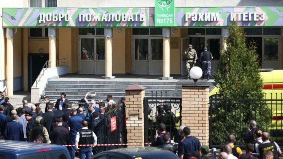 Registros del tiroteo en escuela de Rusia: Uno de los autores fue abatido por la policía