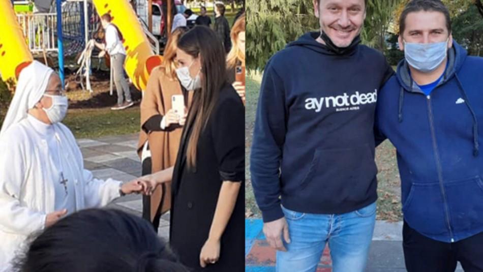 Pampita y Benjamín Vicuña