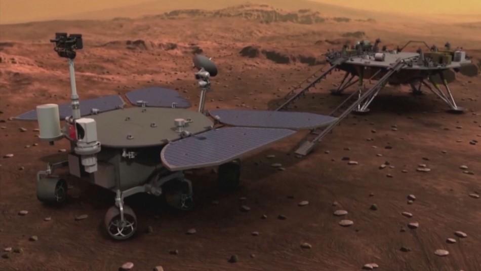 China logra posar pequeño robot en el suelo de Marte