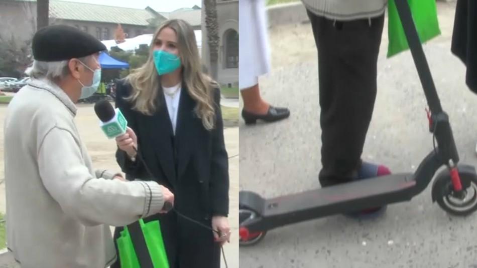 Hombre de 85 años llega a votar en scooter: