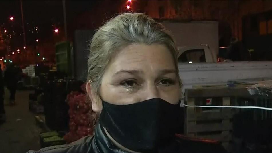 Emocionada comerciante de Valparaíso: