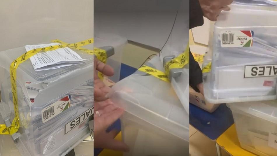 Video registra urnas rotas en Colegio Carmela Silva Donoso de Ñuñoa
