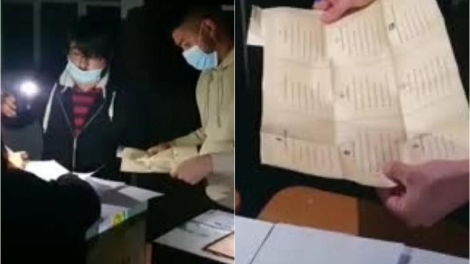 Corte de luz afecta a local de votación en Pedro Aguirre Cerda en pleno conteo de votos