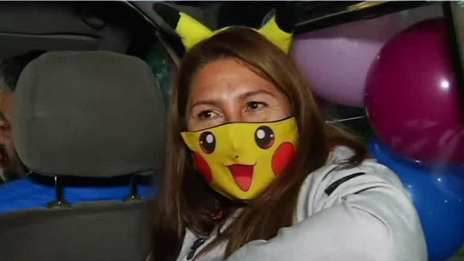 Tía Pikachu celebra en Plaza Italia: