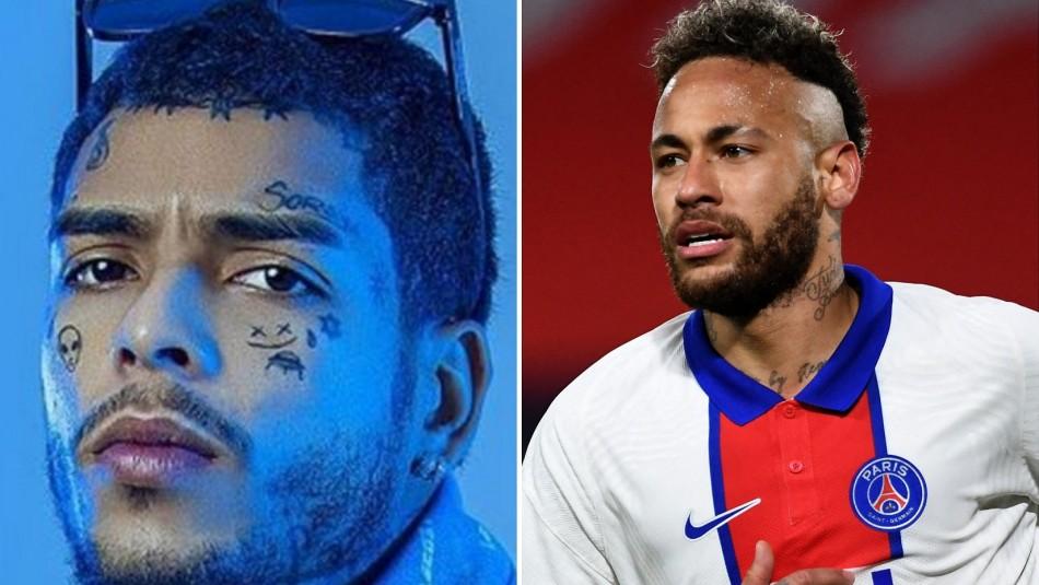 Neymar dedica triste despedida al cantante MC Kevin: