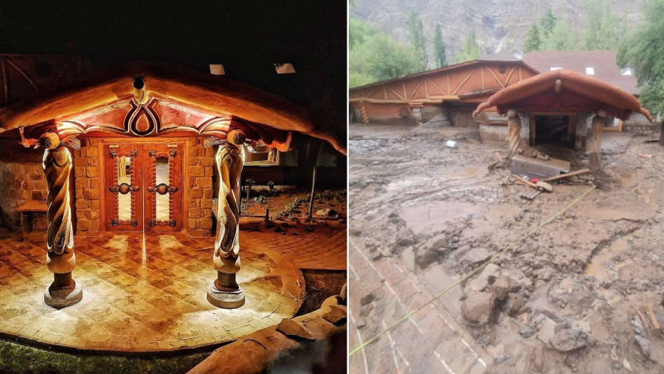 Antes y después del hotel de Pangal Andrade