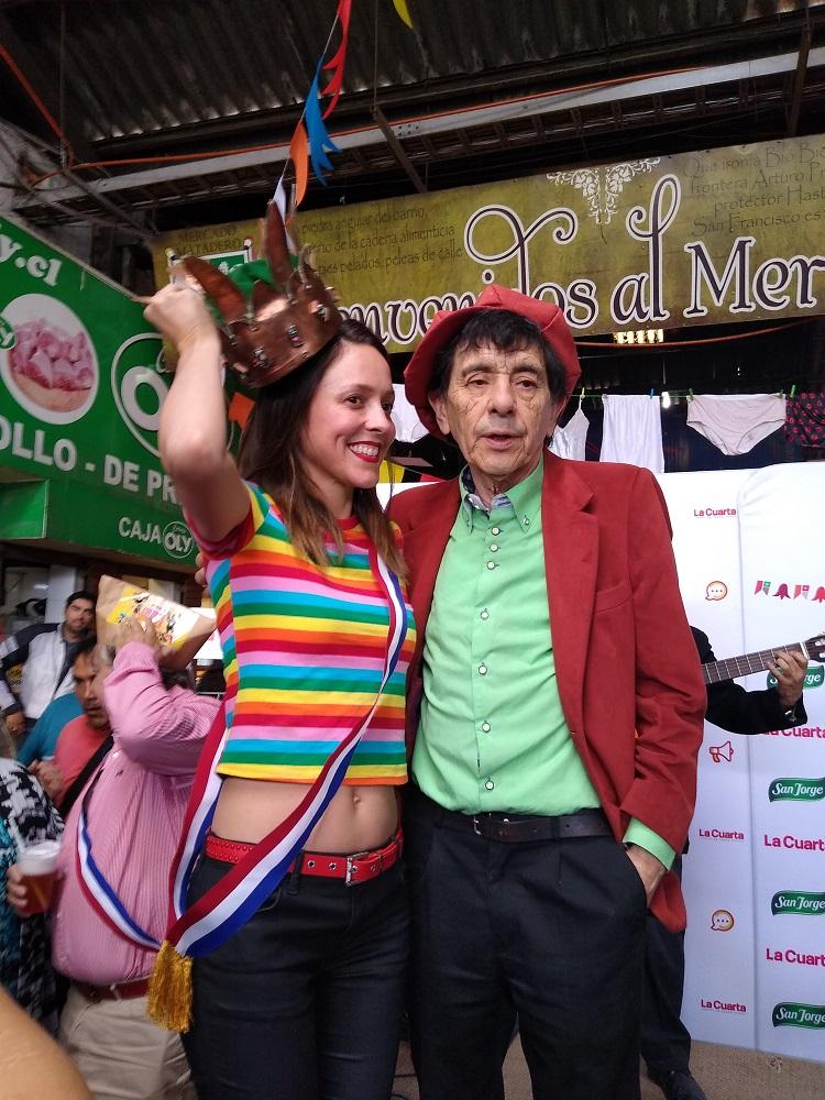 Maly Jorquiera como reina Guachaca
