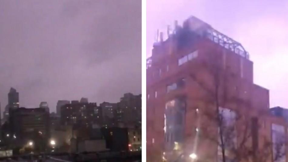[VIDEOS] Revisa los registros de la tormenta eléctrica en Santiago