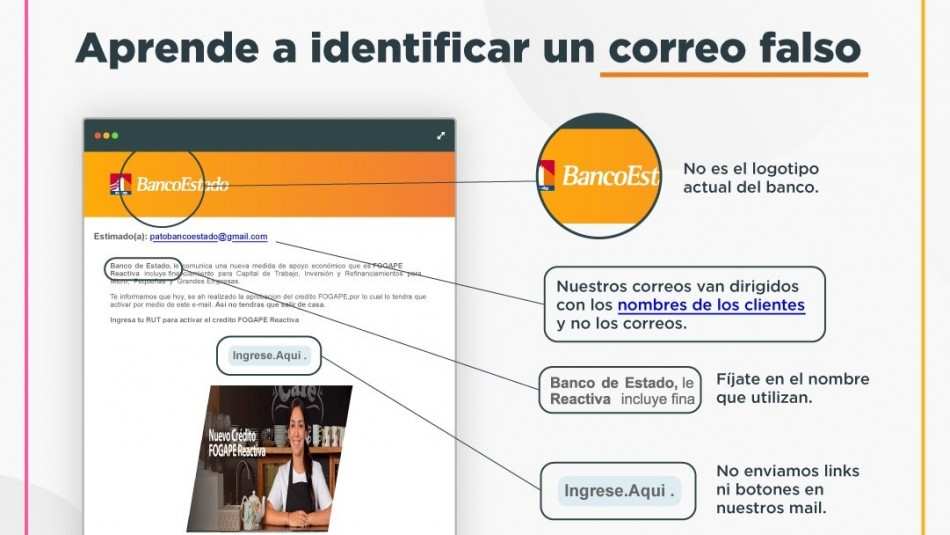 Activa supuesto crédito Fogape: BancoEstado informa nueva estafa con links fraudulentos