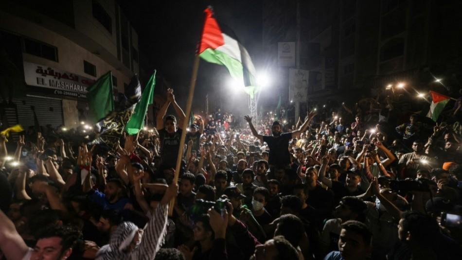 [VIDEOS] Miles de palestinos celebran el alto al fuego entre Israel y Hamás