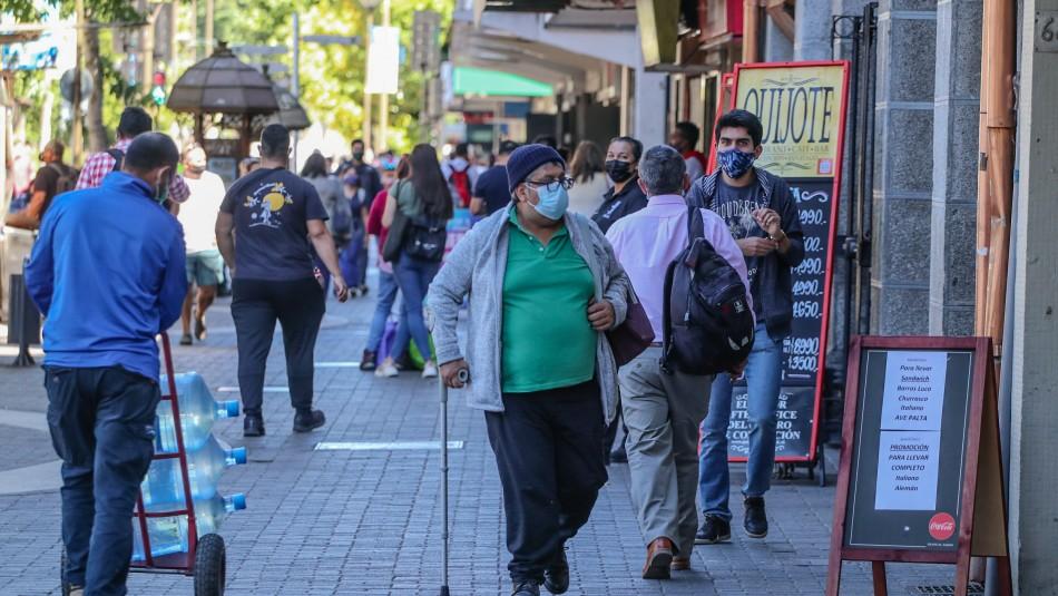 Aysén, O'Higgins, Los Lagos y Biobío aumentaron casos de coronavirus en la última semana