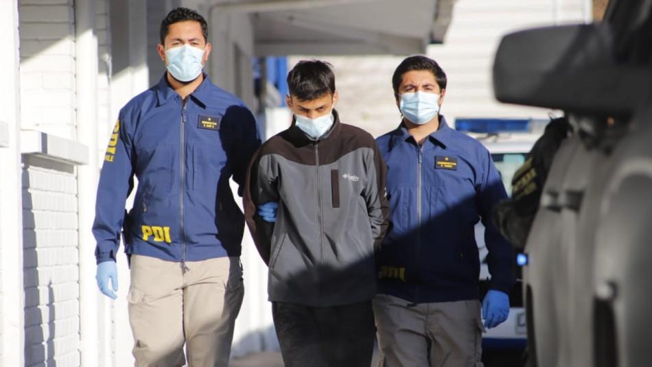 PDI y sospechoso del doble homicidio en El Bosque: