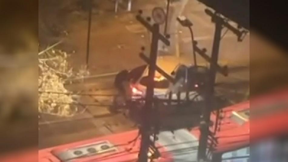 Violenta encerrona en La Reina: Conductor fue amenazado con escopeta en pleno toque de queda