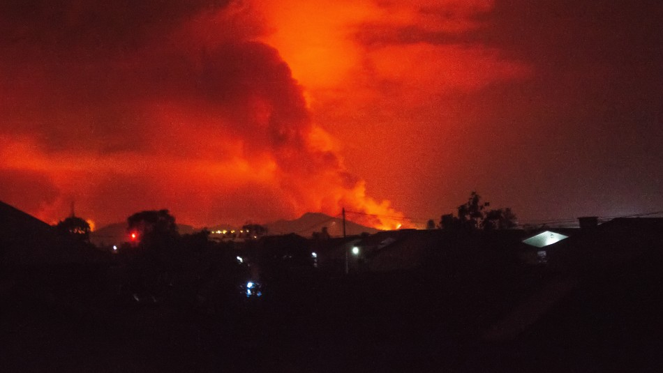 Erupción de volcán Nyiragongo: Río de lava alcanza aeropuerto en República Democrática del Congo