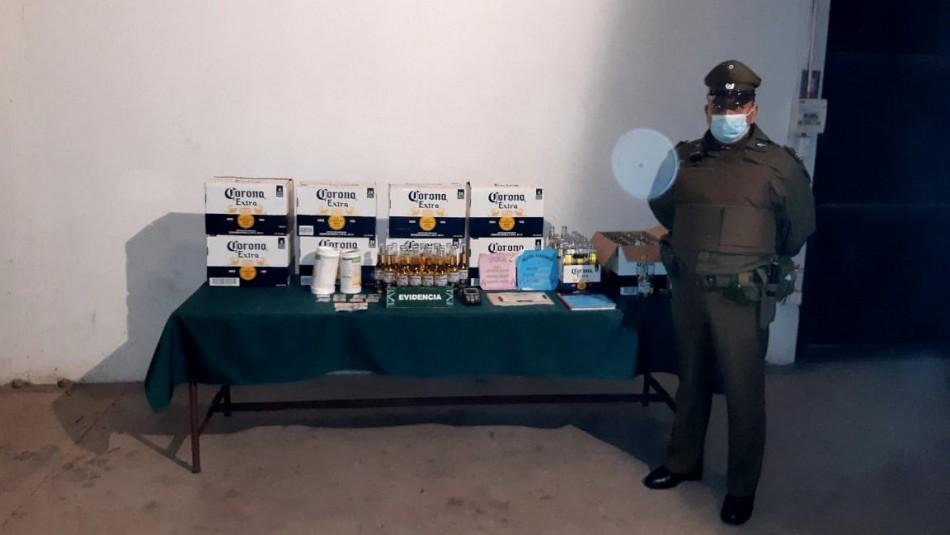 14 detenidos por fiesta clandestina en San Felipe: Había comercio sexual y venta de alcohol