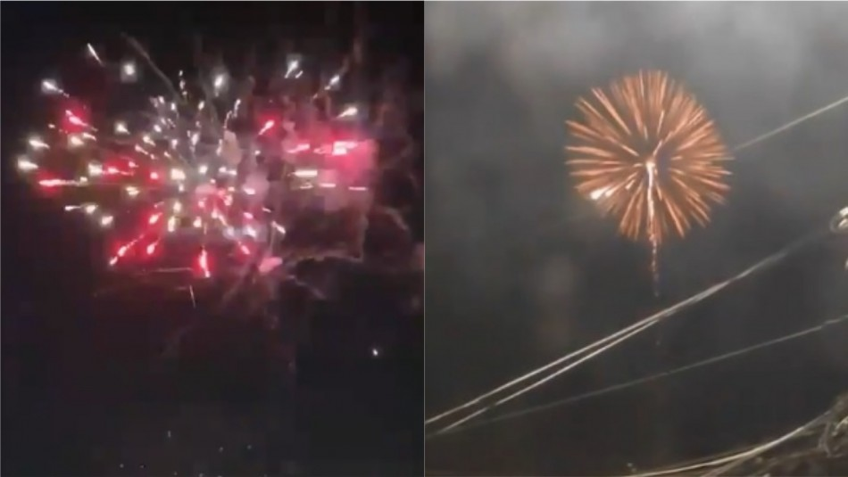 Se registran estruendos y lanzamiento de fuegos artificiales en distintas comunas del país