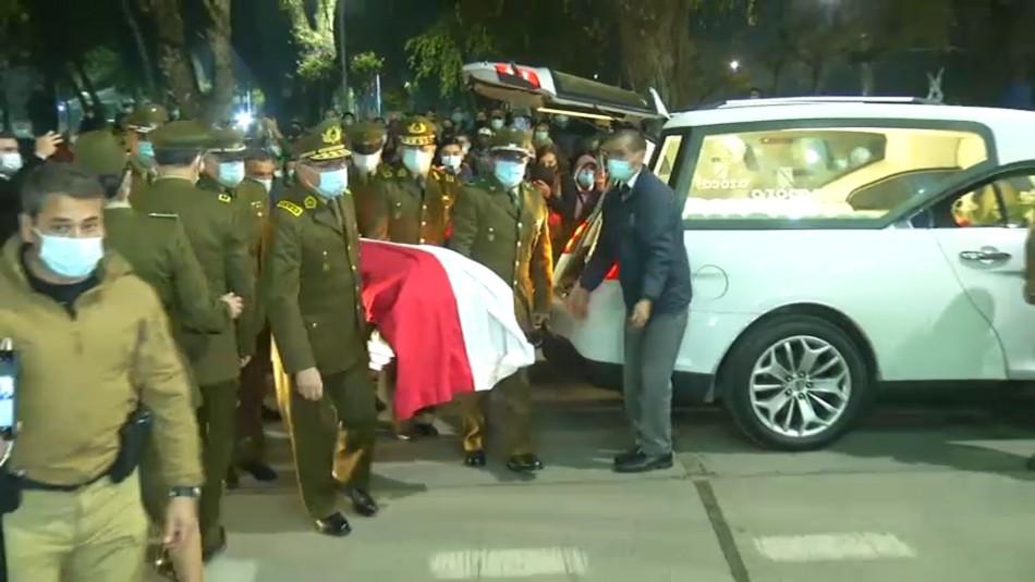 Carabinero asesinado en Collipulli es recibido con homenajes en Quillón