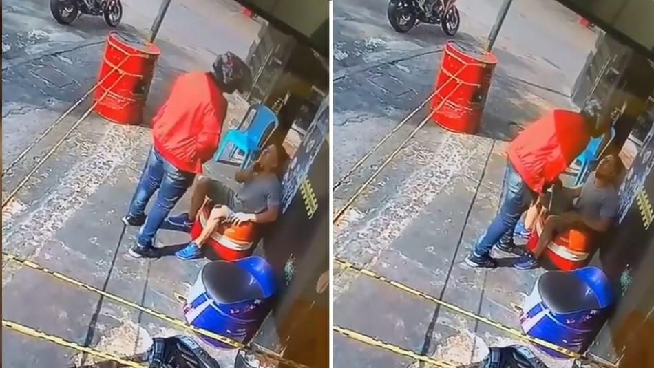 En pleno asalto ladrón reconoce a su víctima y le devuelve el celular y laptop