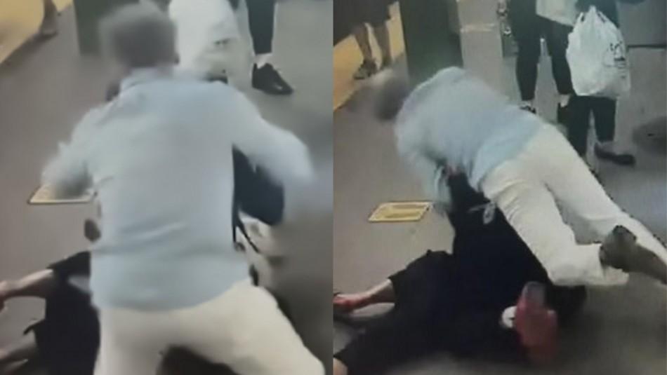Hombre salva a mujer de brutal ataque con cuchillo.