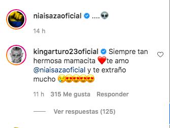 Comentario de Arturo Vidal a Sonia Isaza