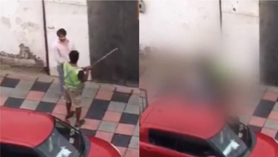 En riesgo vital un profesor tras recibir brutal golpiza de cuidador de autos en Arica