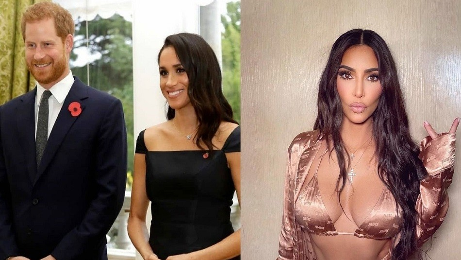 Acusan a Kim Kardashian de explotar imagen de Meghan Markle y Harry en juego de móvil