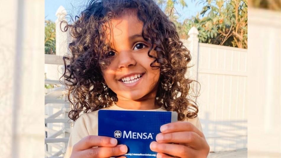 Niña de 2 años entró a la asociación de superdotados: Es la miembro más joven