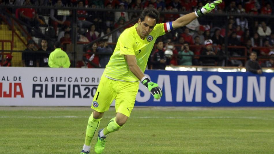 Claudio Bravo vuelve a ser capitán en la Roja.