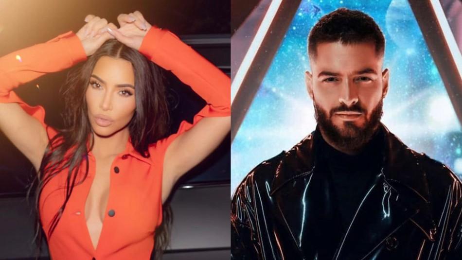 Así reacciona Kim Kardashian al recibir un divertido regalo personalizado que le envió Maluma