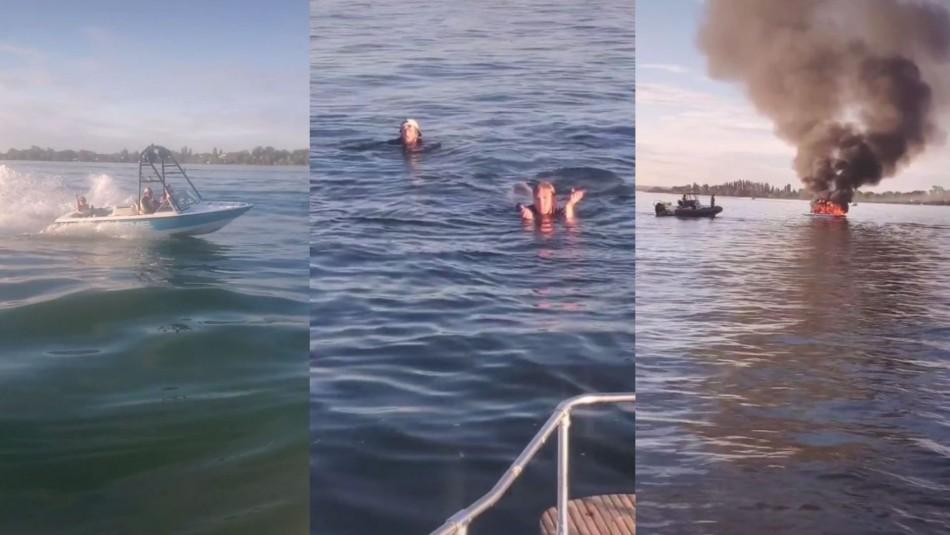 Insultan a ocupantes de bote con bandera LGBT, su lancha explota y son rescatados por agredidos