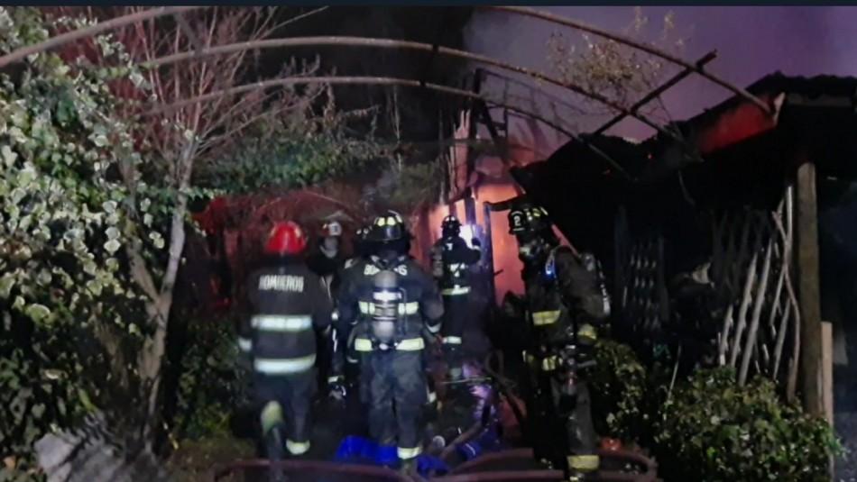 Madre e hija fallecieron en un incendio que afectó a vivienda en Graneros