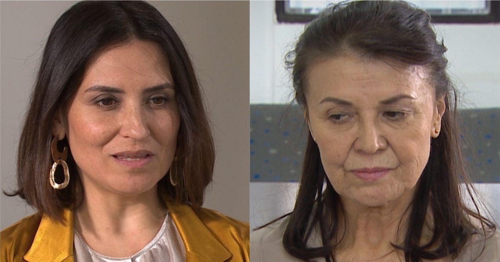 Francisca Gavilán y Mabel Farías como