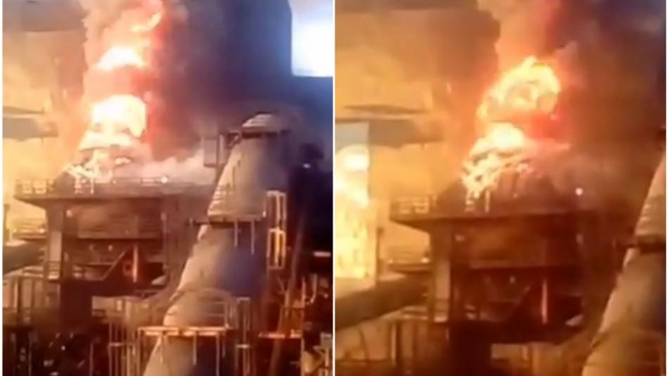 [VIDEO] Gigantesco incendio afecta a planta de pellets en Huasco