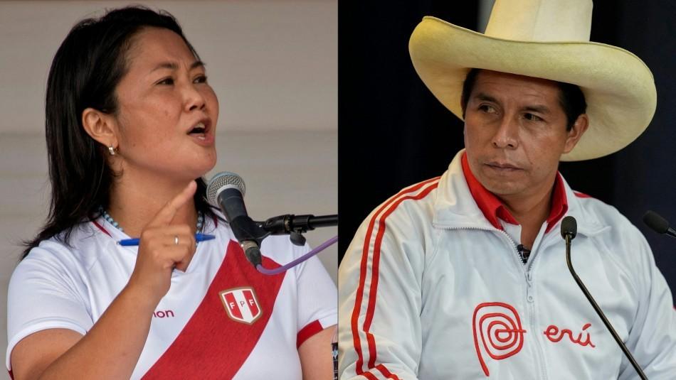 Elecciones en Perú: Reñido balotaje entre Fujimori y Castillo en el voto a voto