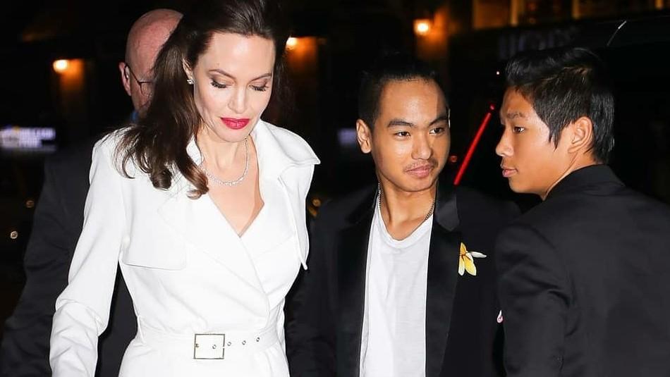 Reaparece el hijo mayor de Angelina Jolie: Maddox ahora luce el cabello largo