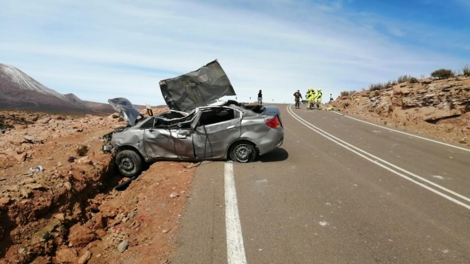 Tragedia en Antofagasta: Tres muertos deja brutal accidente entre Geyser del Tatio y Calama