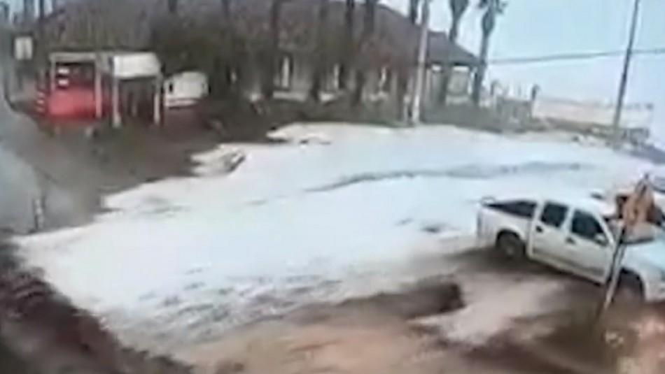 Impactantes marejadas afectan al borde costero del país: Iloca terminó bajo el agua